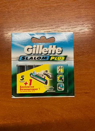 Лезвия для бритвы Gillette slalom plus