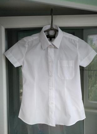 """Блузка """"debenhams"""" р.122 девочке 7 лет белая школьная рубашка"""