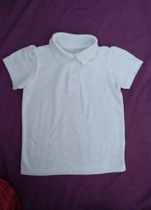 Тенниска tu р.110 девочке 5лет белая футболка-поло
