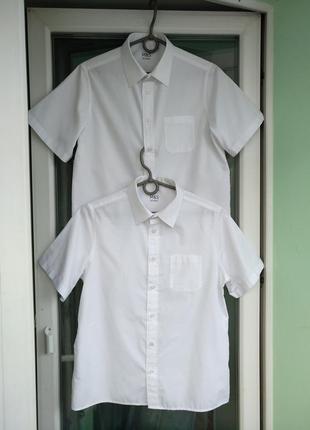 Шведка m&s school р.158 мальчику 12-13л, белая рубашка