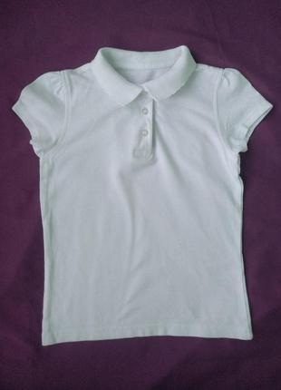 Тенниска george р.110-116 девочке 5-6лет белая футболка-поло