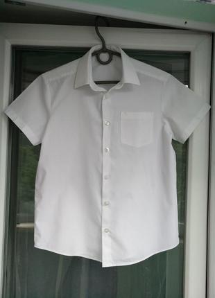 Шведка george р.134-140 мальчику 9-10лет белая школьная рубашка