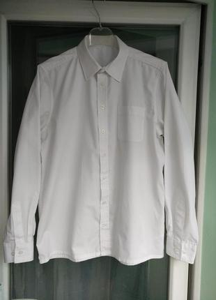 """Рубашка """"school life"""" р.164 мальчику 14лет школьная белая"""