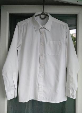 """Рубашка """"school life"""" р.158 мальчику 13лет школьная белая"""