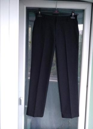 Брюки школьные m&s р.158 мальчику 12-13лет черные штаны форма