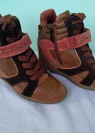 Модные ботинки tamaris визуально увеличивающие рост р.38 женск...