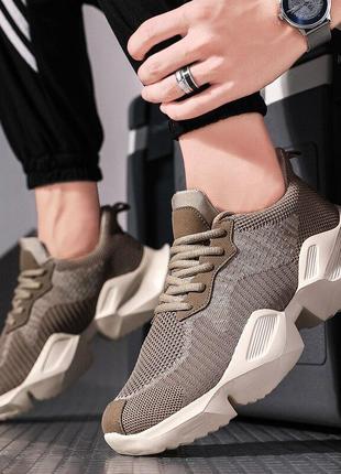 Мужские коричневые весенние кроссовки. размеры 41,42,43,44,45,46