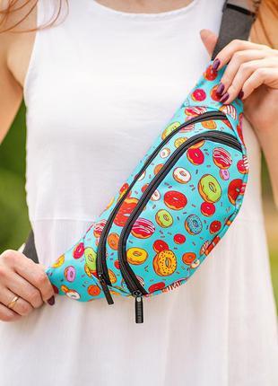 Яркая бананка,поясная сумка,сумка на пояс