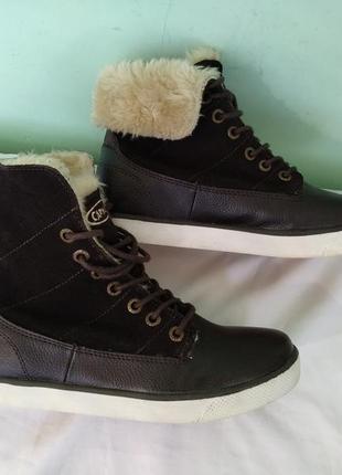 """Ботинки зимние """"capwave"""" р.36 кожаные женские полусапоги"""