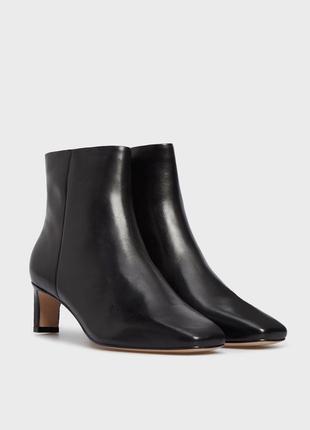 Arezzo женские черные кожаные ботильоны (ботинки)