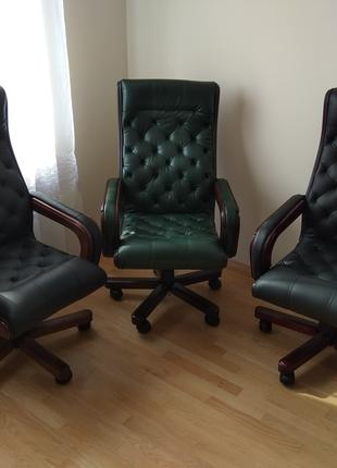 Кресло кожаное для начальника, управляющего, руководителя, кабине
