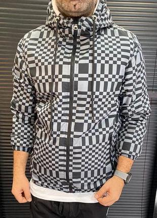 Куртка ветровка мужская серая турция / курточка віртовка чоловіча