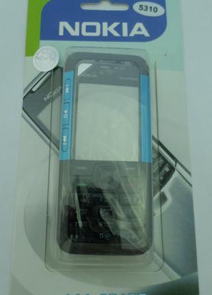 Корпус Nokia 5310 + Blue клавиатура Супер качество