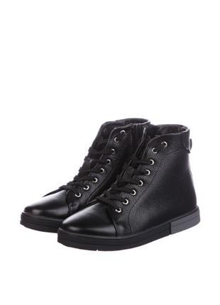 Зимние ботинки кожанные, 39 размер