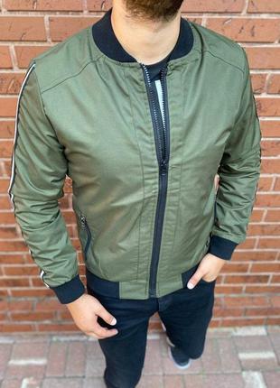 Куртка бомбер мужская хаки турция / курточка ветровка чоловічий