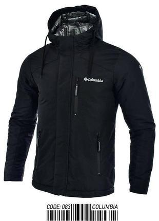 Куртка мужская теплая columbia черная турция / курточка чолові...