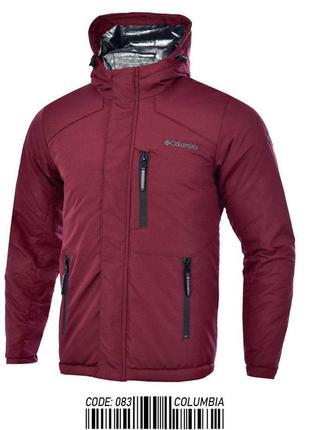 Куртка мужская теплая columbia бордовая турция / курточка чоло...
