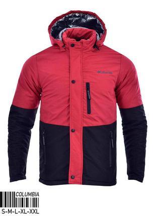 Куртка мужская теплая columbia красная турция / курточка чолов...