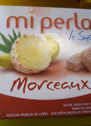 Тростниковый сахар в кубиках  не рафинированный Mi pеrla 1кг