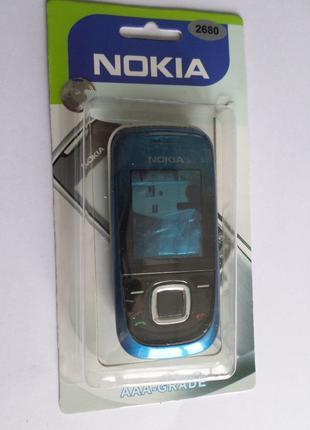 Корпус Nokia 3600 slide Blue+клавиатура Супер качество