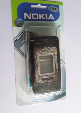 Корпус Nokia 7390 черный+клавиатура Супер качество