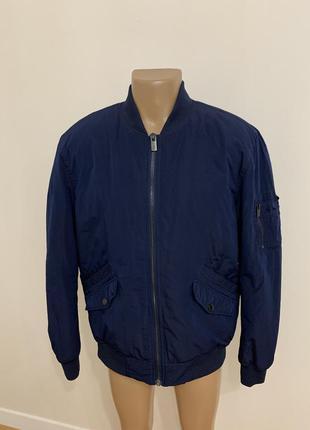 Мужская куртка бомбер синяя hampton republic стиль zara
