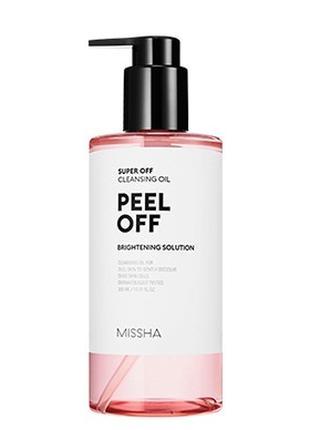 Гидрофильное масло с эффектом пилинга Missha Peel Off Cleansing