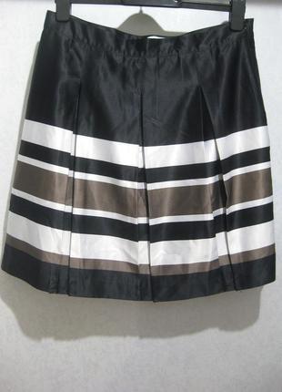 Юбка bpc fashion bonprix collection в полоску чёрная белая раз...