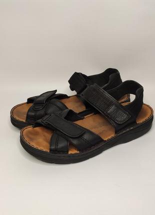 Rieker кожаные спортивные, трекинговые сандалии на липучках