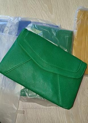 Клатч,  сумка зеленого цвета