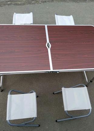 Туристический стол и  4 стулья R-28855