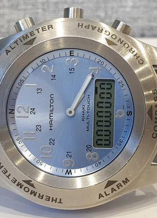 Мужские часы hamilton multitouch h915340 compass altimeter