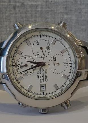 Мужские часы seiko 7t32-7g80 alarm 100m chronograph
