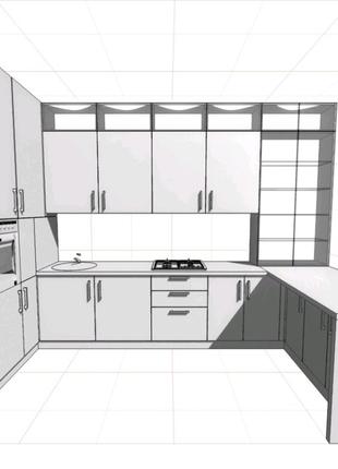 Деталировка, проект, спецификация для изготовления мебели Вияр.