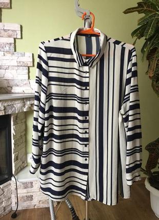 Брендова блуза-сорочка великого розміру