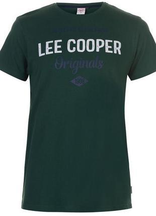 Мужская зеленая футболка lee cooper