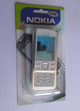 Корпус Nokia 6300 White+клавиатура Супер качество