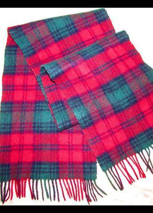 Мужской шарф шотландия овечья шерсть~johnstons~оригинал