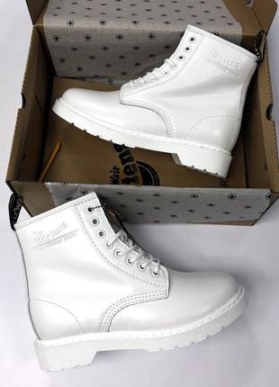 Зима🤩dr martens 1460 white🤩женские кожаные зимние ботинки/сапо...
