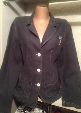 Оригинальный льняной пиджак.090