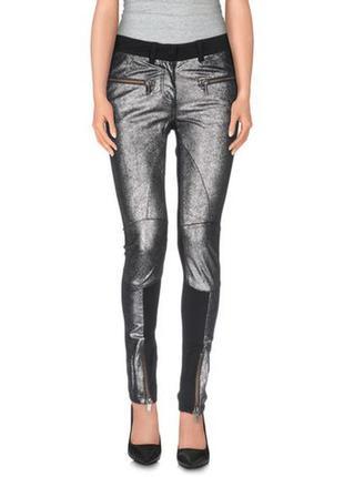 Karl lagerfeld леггинсы кожаные лосины штаны брюки натуральная ко