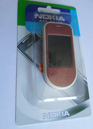 Корпус Nokia 7373 Pink+клавиатура Супер качество