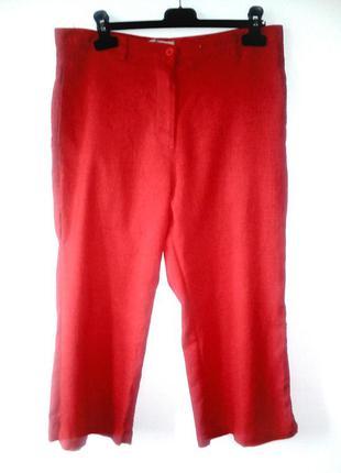 Красные льняные кюлоты, красные кюлоты, кюлоты, шорты