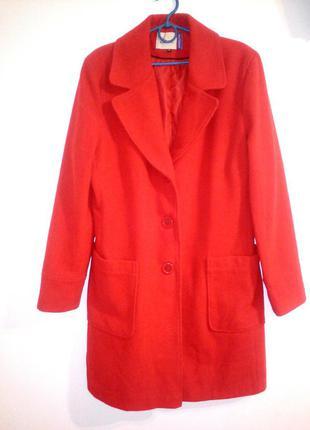 #розвантажуюсь красное шерстяное пальто xl