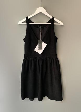 Theperfext платье натуральная кожа { замша}