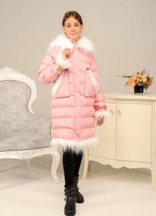 Куртка на девочку пудра