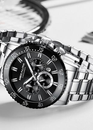 Наручные часы Megalith 8227M Silver-Black