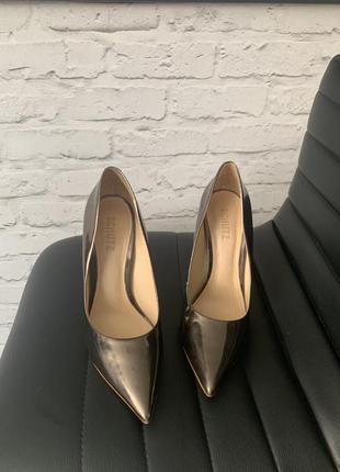 Schutz туфли металлик серебро италия оригинал