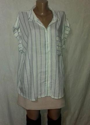 Вискозная рубашка блуза в полоску
