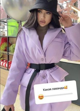 Куртка пальто с поясом